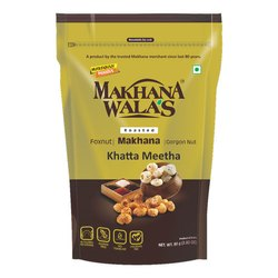 Makhanawalas Roasted Makhana (foxnuts) Gorgon Nut Water Lily Pops Khatta Meeth 80g Each