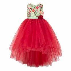 Maroon High-Low Girls Party Wear Dress