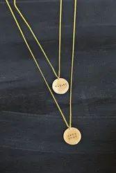 Golden Minimalist Handmade Lead Free Brass Jewellery