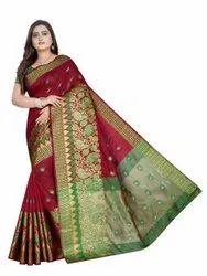Fancy Banarasi Jacquard Work Saree
