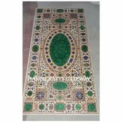 Exclusive Marble Inlaid Pietra Dura Dining Table Tops
