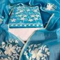 Modal Chanderi Embroidered Suit Material