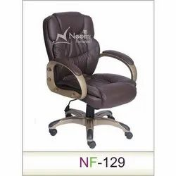 NF-129 Leather Medium Back Chair
