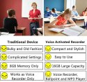 SAFETYNET Digital Voice Recorder Pen 16GB for Students Meetings Lectures Classes Interview
