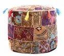 Khambadiya Cotton Pouf Ottoman