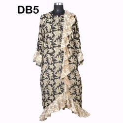 10 Cotton Hand Printed Women's Long Dress India DB5