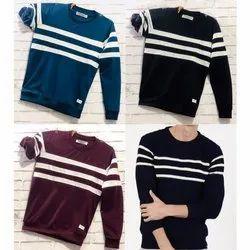 Cotton Mens Full Sleeve Designer T Shirt
