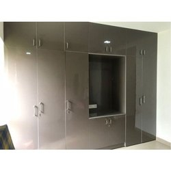 Wood arts Brown Plywood Modular Wardrobe, Thickness: 5 to 10 mm, for Home