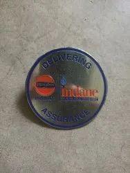 Company Badge Steel & Brass