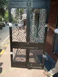 Powder coating Iron MS Fancy Door, For Alltip