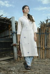 Ladies Cotton Embroidered Kurti