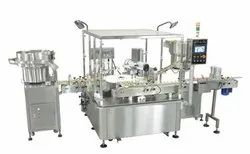 Automatic Filling Stoppering Capping Machine