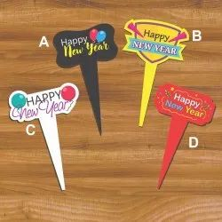 Signative Paper New Year Cake Topper, Packaging Type: Packet