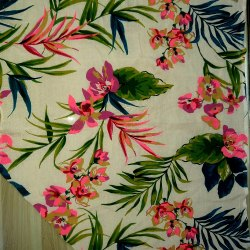 Printed 44-45 Floral Print Fabric, For Garments, GSM: 100-150