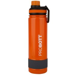 Probott Stainless Steel Double Wall Vacuum Flask Rainbow Sports Bottle 700ml -Orange (PB 700-02)