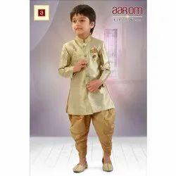 Kurta And Dhoti Pant Wedding Wear Kids Full Sleeves Silk Dhoti Kurta, 1-10 years