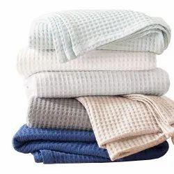 Large Soft Cotton Waffle Blanket