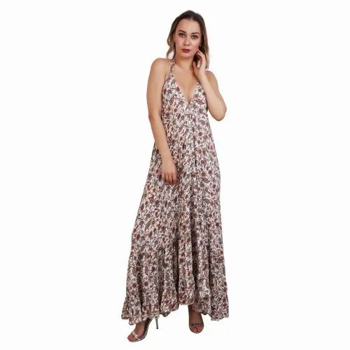 Georgette Party Wear Floral Printed Long Dress