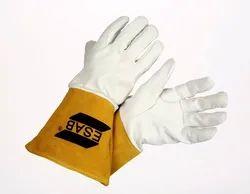 Brown Leather TIG PROFESSIONAL HAND GLOVES, Size: Medium, Model Name/Number: 2001005003