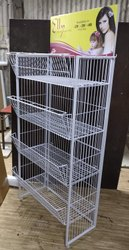 Mild Steel 4 feet Retail Display Rack ( Wire ) for Supermarket
