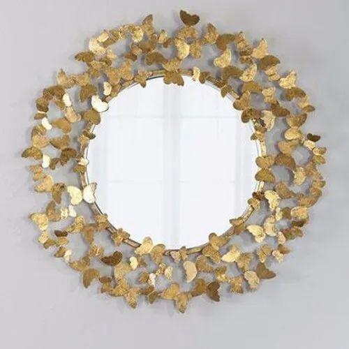 Metal Wall Decor Mirror Shape