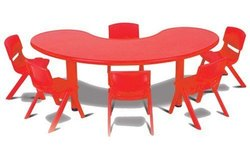 Half Moon Table with 6 Chair