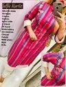 Linen cotton kurti with embroidery