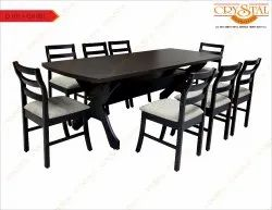 Wenge Process Wood Wooden Table Dining Set, For Home