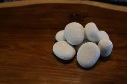 White Pebble Stone Pebbles, For Landscaping, Dimensions: 3mmtomore