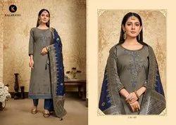 Albela Vol 4-Kalarang Cotton With Banarasi Silk Dupatta Salwar Suits