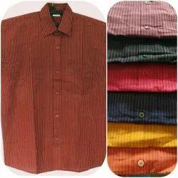 Latest Khadi Cotton Half Shirt, Machine wash