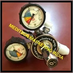 Oxygen Regulator Double Stage Double Gauge, for Hospital