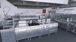 SS304 Stainless Steel Commercial Kitchen Set-Up