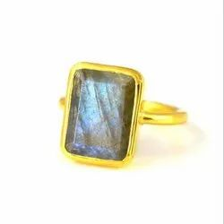 Labradorite Gemstone Handmade Gold Ring