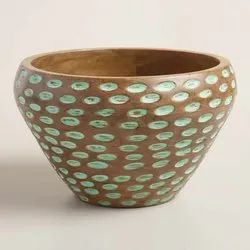 Carved Wooden Salad Bowl
