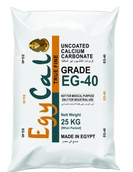 Egycal EG-40 Uncoated Ground Calcium Carbonate, For Industrial, Packaging Type: PP Bag