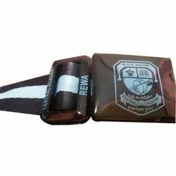 Polyester Alloy Brown School Uniform Belt, Size: S,M