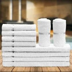White Cotton Face Towel 12 inch x 12 inch