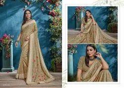 Resham Work Saree, With Blouse Piece, 6.3m