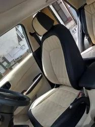 4 Wheeler Off White and Black Audi Comfortable Car Seat Cover, Features: Waterproof