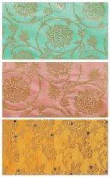 Banarasi Brocade Silk Floral Fabric