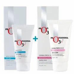 O3 Weekend Glow Combo Kit, Milk Scrub and Derma Fresh Mask (50g)
