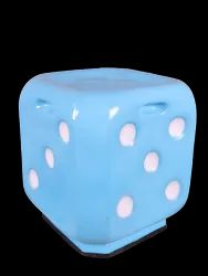 Dice Shape Stool- Sky Blue Color