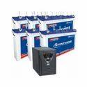 Microtek 5.7kva Inverter With 150ah 6 Batteries, Rated Capacity: 150ahx 6