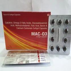Omega 3 Docosahexaenoic Acid Methylcobalamin Folic Acid Boron  Calcium Carbonate