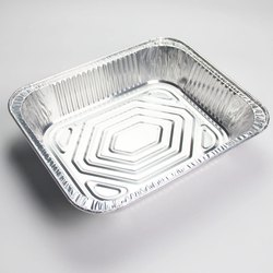 Rectangular Aluminium Food Container, Capacity: 650ml