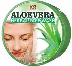 KR Enterprises White Aloevera Herbal Facewash, Packaging Type: Plastic Jar, Packaging Size: 200 Gm