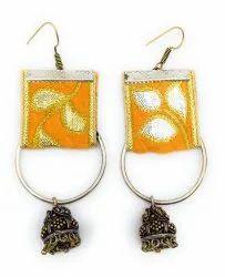 FE015 Handmade Fabric Earrings