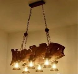 Wooden Fish Hanging Light