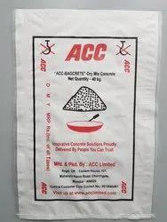 White Cement Bag, Storage Capacity: 40kg